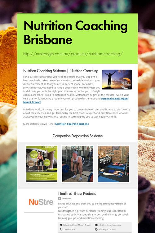 Nutrition Coaching Brisbane
