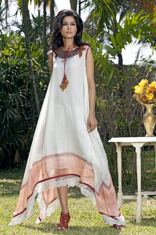Pinnacle -- Self block printed asymmetrical dress