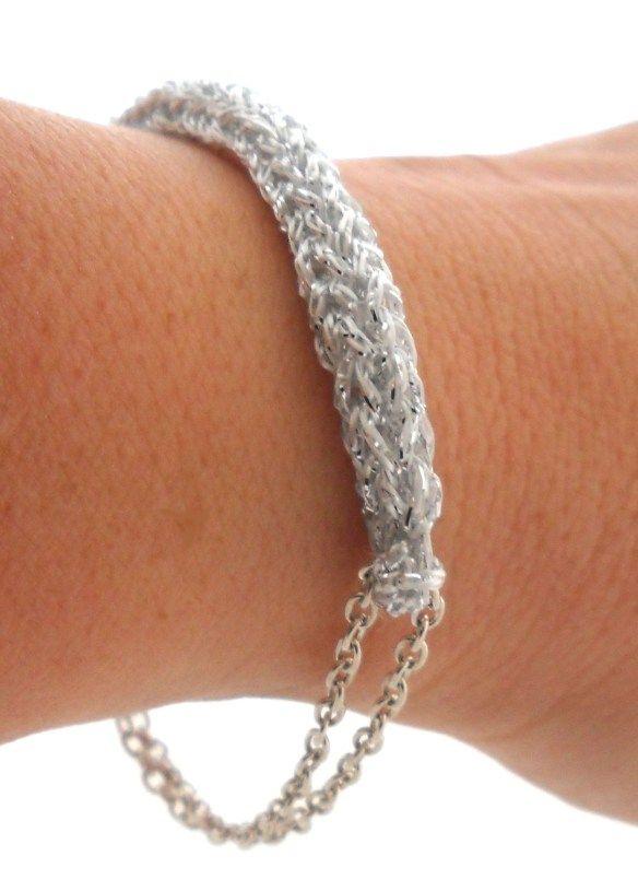 DIY, corking, tutorial, french knitting, spool knitted bracelet
