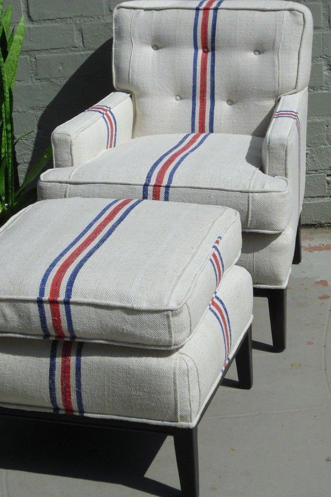 Grain sack chair.