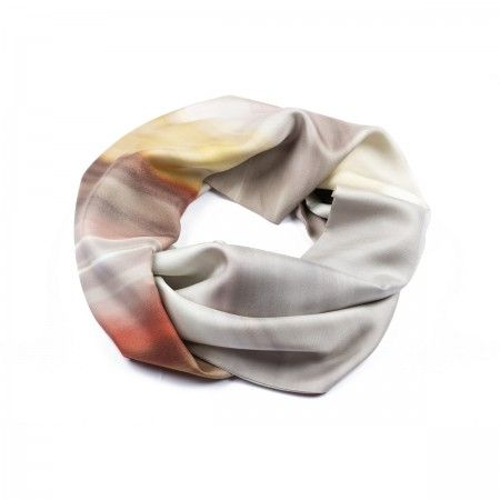Lacrom Store    am abstract, foulard, silk  Twill silk scarf with photographic print. AM Abstract is the reproduction of photographic abstract images, based on the technique of motion. Produced entirely in Italy.