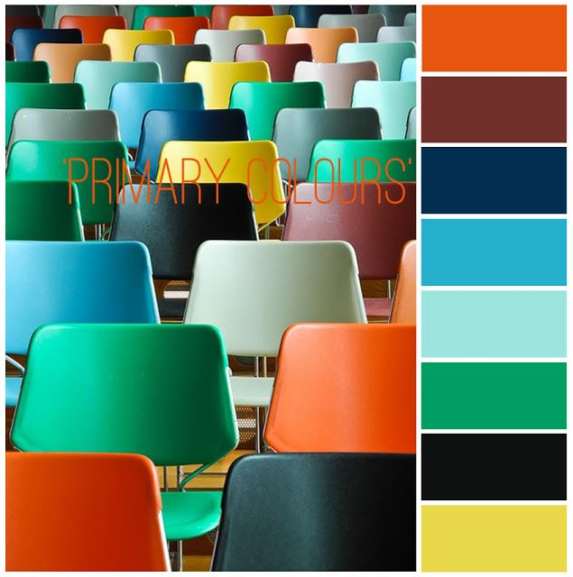 ORANGE-BROWN-NAVY-AQUA-MINT-GREEN-BLACK-YELLOW littletree designs: colour inspiration...'primary colours'