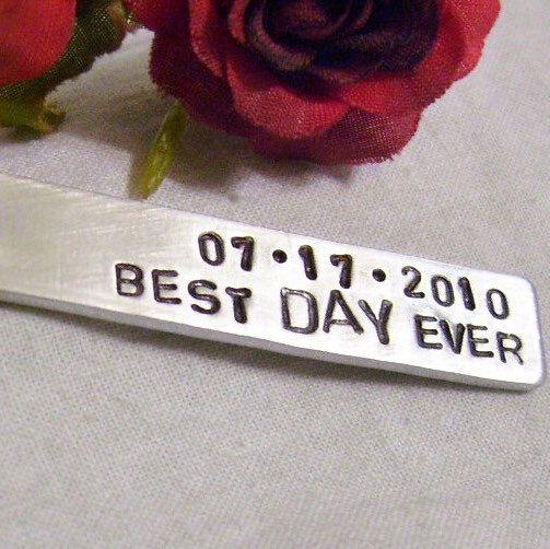 Best day ever, hand stamped key chain, special date, gift for boyfriend, girlfriend, bride , groom, partner