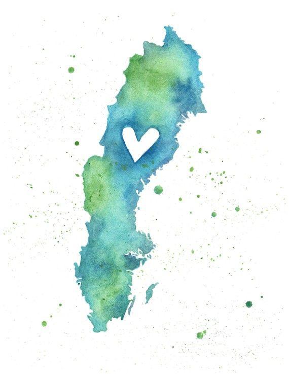 Ska göra de här bilden med hjärtat på Stockholm och hänga i hallen
