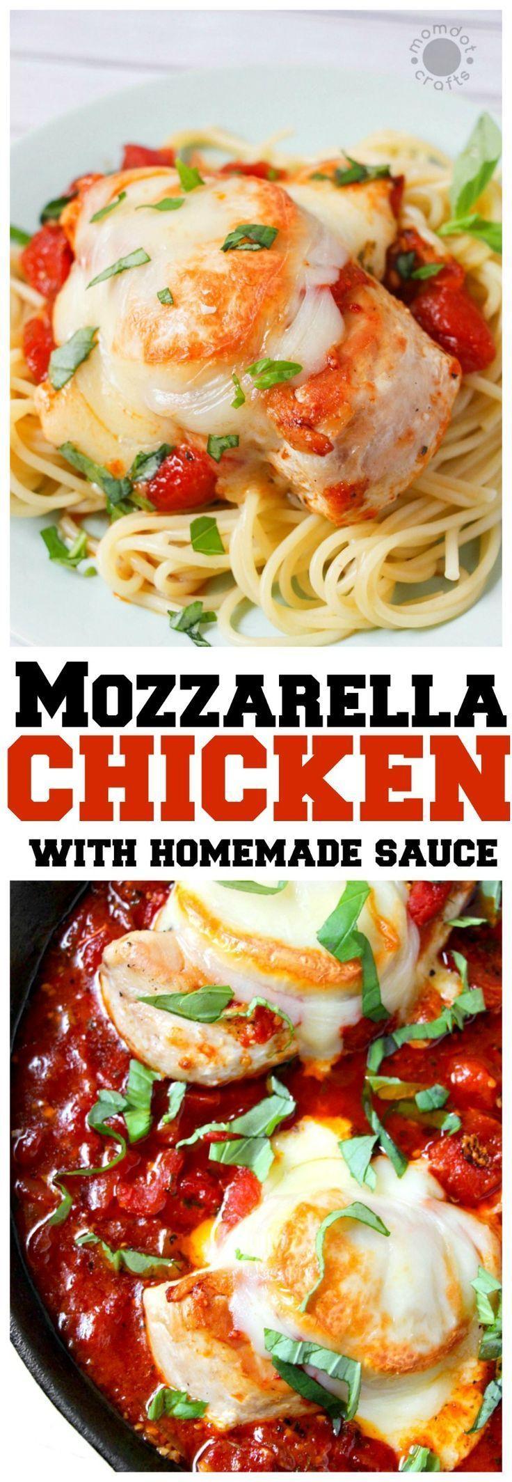 Mozzarella Chicken with Quick Homemade Sauce