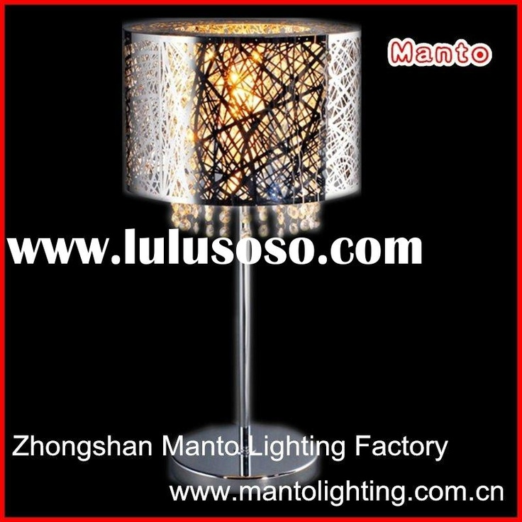 Modern_stainless_steel_table_lamp_shade