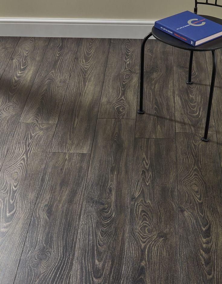 Lodge Charcoal Oak Laminate Flooring Oak laminate