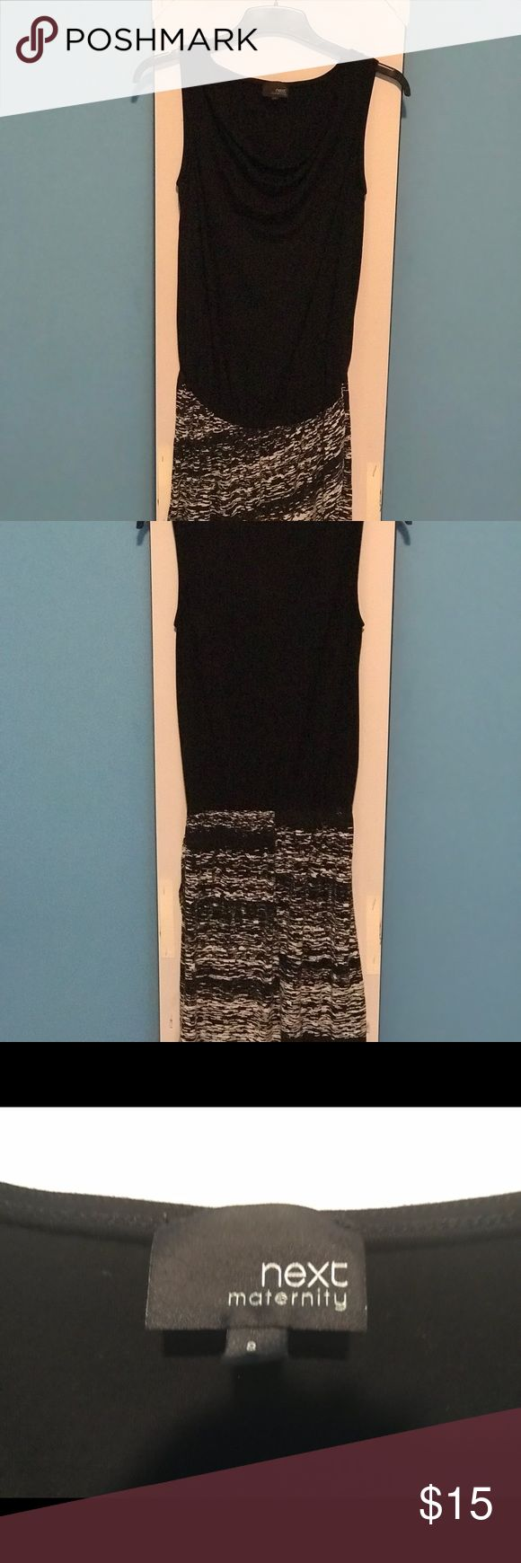 Next UK maternity dress size 8 Uk 4 US Lovely next Uk maternity dress in a flattering black and white. Size 8 Uk or 4 us but would fit 6 as well Next Direct Dresses Strapless