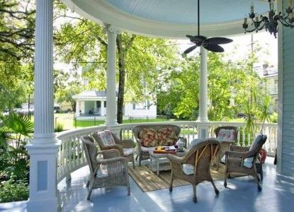 Serene Southern Porch at the Sully Mansion Bed and Breakfast in New Orleans