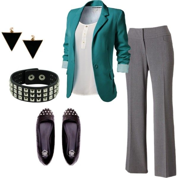 Not so much the spikey earrings/bracelet. Minus the accessories, this is cute!!