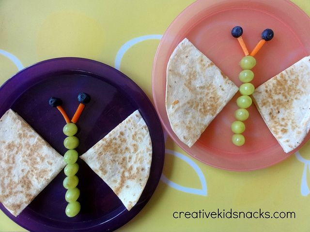 Butterfly quesadillas by creativekidsnacks.com. So easy and fun for the kids! Great blog with lots of fun food ideas!