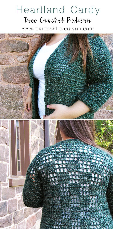 Heartland Cardy Cardigan Crochet Pattern (Small/Medium Sizes)