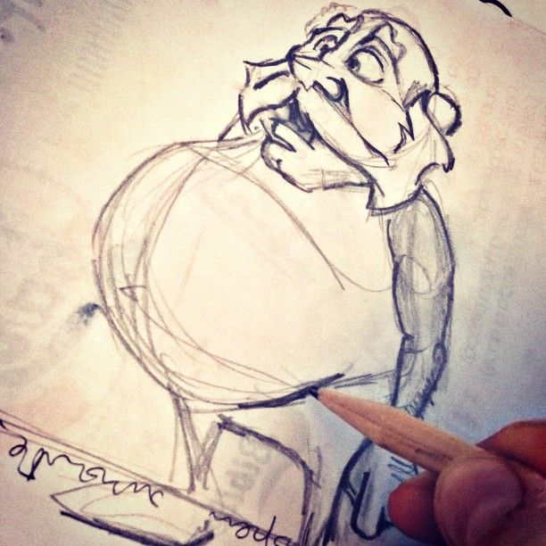 Old Man... #Disney #cartoon #pixar #disneysketch #sketch #characterdesign #drawing #draw #pencil #fumetto #disneypictures #mazdesign @mazdesign #disegno #personaggionuovo