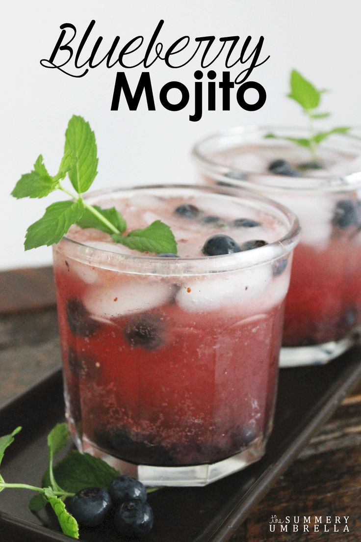 This blueberry mojito recipe is not only light and delicious it is also the perfect evening drink after a long day. Try out this recipe today!