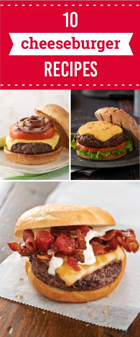 10 Cheeseburger Recipes – Get the BBQ grill ready for this delicious collection of cheeseburger recipes! Without the cheese, they are just hamburger recipes, but with the cheese, these cheeseburger recipes are all dressed up and ready to start a party on the picnic table. Which of these gooey dishes will you try out this summer?