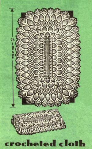 oval crochet tablecloth pattern crochet for beginners