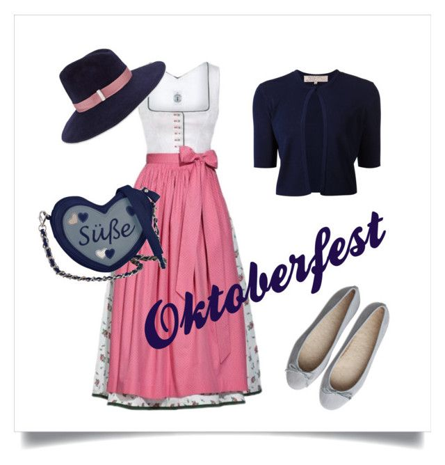 Oktoberfest-Tasche: www.knightsandroses.com #oktoberfest #oktoberfestlook #oktoberfestoutfit #oktoberfestaccessoires #wiesnlook #wiesnoutfit #wiesn #ozapftis #oktoberfesttasche #dirndl  Oktoberfest by katharinavp on Polyvore featuring polyvore, fashion, style, Lela Rose, Gigi Burris Millinery and clothing