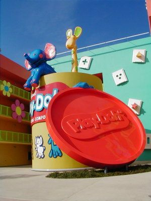 Giant Play-Doh Container at Disney's Pop Century Resort.