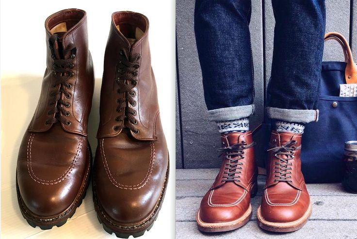 $787 Alden Men size 13 Indy Kudu Leather High Top Boot Bootmaker Edition Vibram  #Alden #AnkleBoots