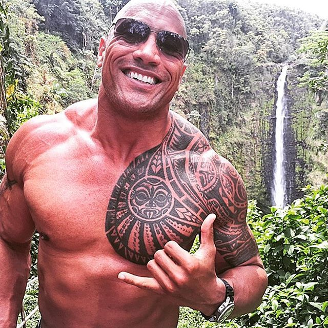 Pin for Later: Simply Put, We Love Dwayne Johnson, and Here Are All the Reasons Um . . . did we mention he looks great shirtless?! Seriously, how is this even legal?