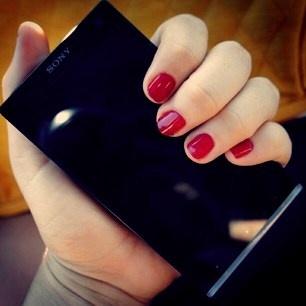 Essie Plumberry #Nails and the Xperia S - two things that look darn good.: Cat