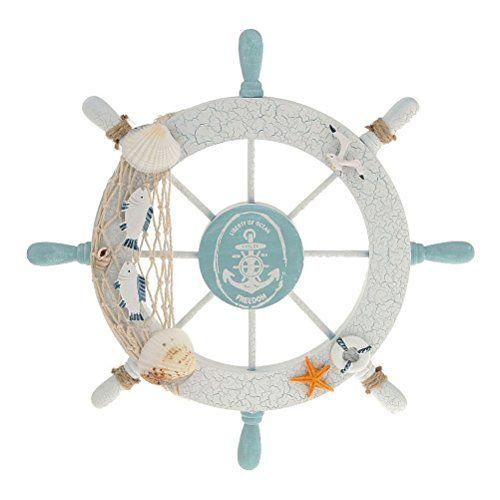 WINOMO Wheel Wall Decor Nautical Decor Nautical Boat Steering Wheel >>> Want additional info? Click on the image.