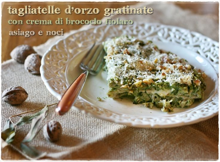Tagliatelle d'orzo con broccolo fiolaro