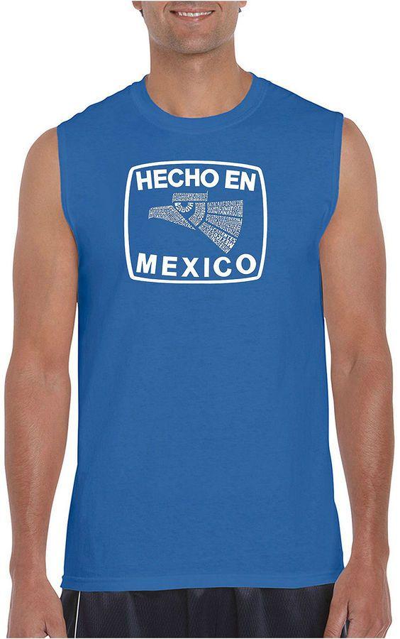 LOS ANGELES POP ART Los Angeles Pop Art Men's Hecho En Mexico Sleeveless T-Shirt - Big and Tall