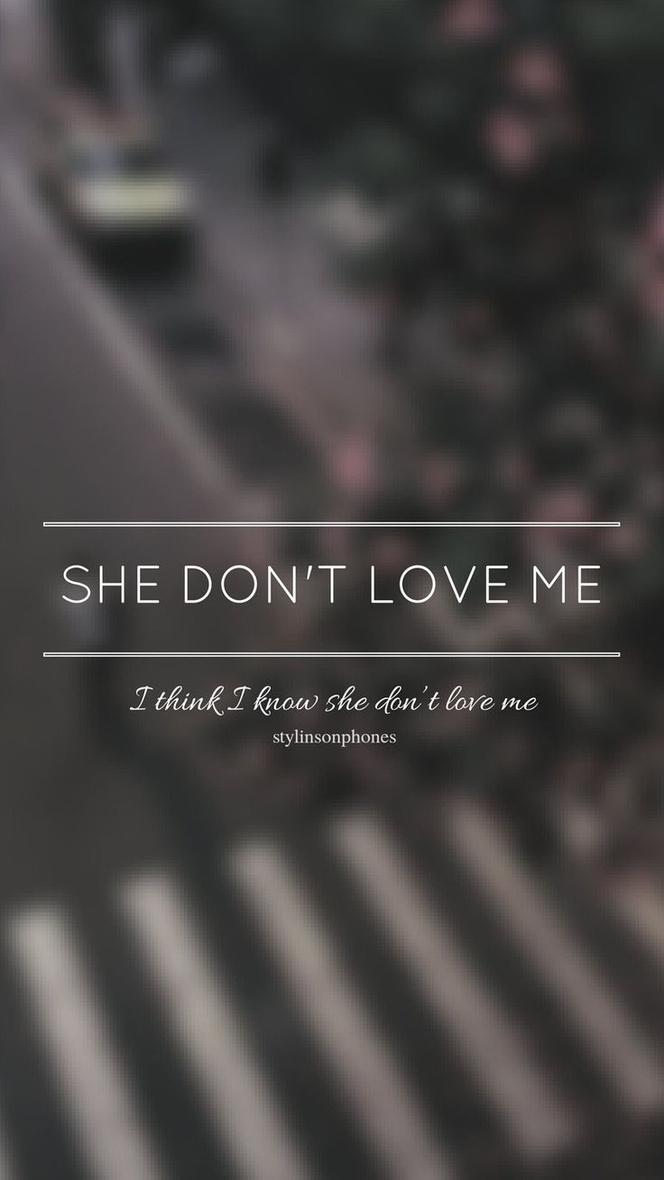 SHE DON'T LOVE ME // ZAYN // ctto: @stylinsonphones (on Twitter)