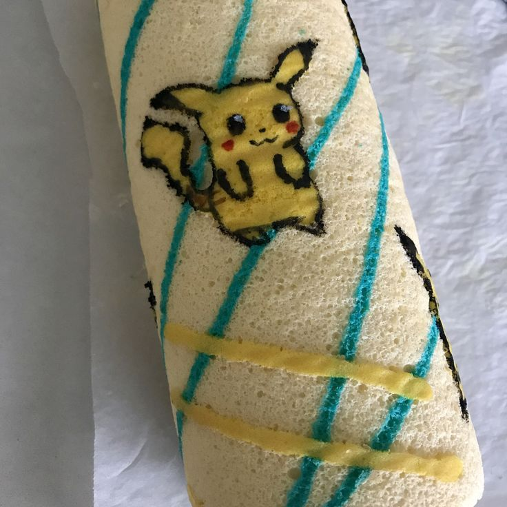Pikachu Swiss Roll