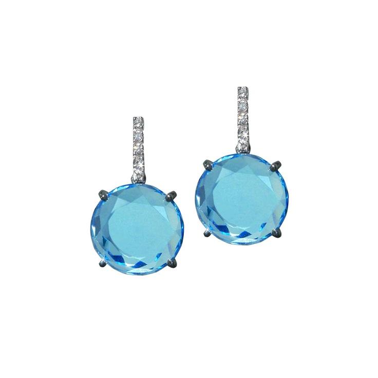 .Plukka Design, Blue Topaz Diamonds, Earringsbi Plukka, Plukka Blue, Plukka Pin Up, Jewelry, Products, Topaz Illumina