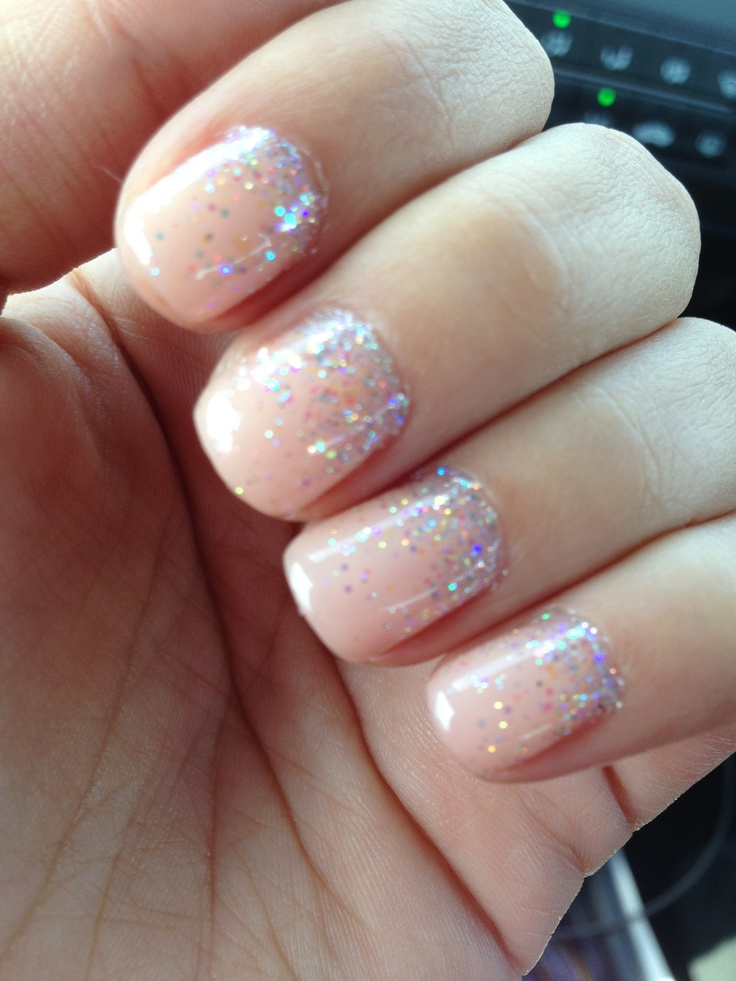 My Wedding Nails Opi Gel Color Passion Sprinkled With Iridescent Rock Star Glitter Pins By