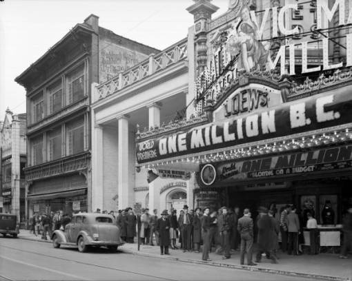 Premiere for One Million B.C. at Loews movie theater, Louisville, Kentucky, 1940. :: Royal Photo Company Collection