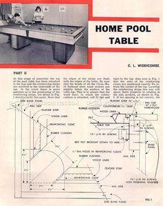 Model Woodworking Plans For A Pool Table  Woodproject