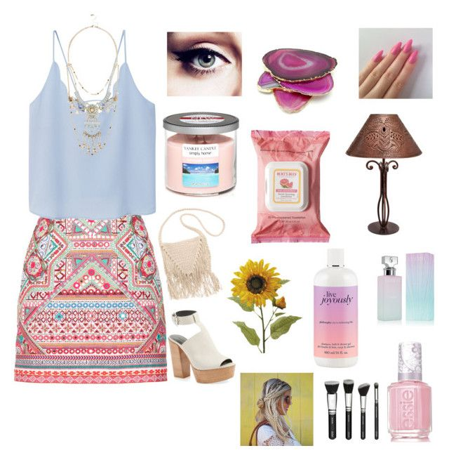"""""""constantly vibing"""" by blogging on Polyvore featuring Accessorize, MANGO, Rebecca Minkoff, Billabong, River Island, Yankee Candle, Burt's Bees, philosophy, Calvin Klein and Essie"""