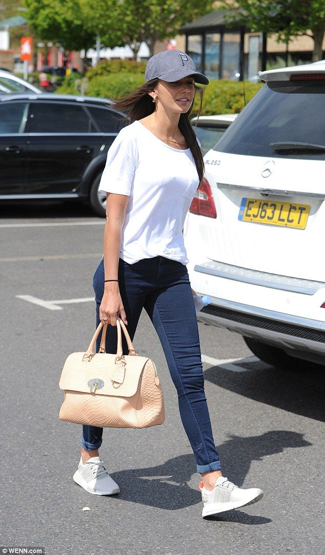 Michelle Keegan keeps it casual in white T-shirt and skinny jeans in Essex | Daily Mail Online