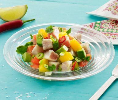 Recept: Ceviche med färsk tonfisk och lax
