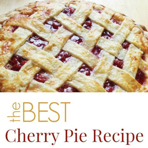 The Best Cherry Pie Recipe- I will totally try this!