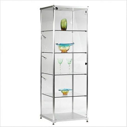 Charming Bellini Modern Living Celeste Curio Cabinet In Silver
