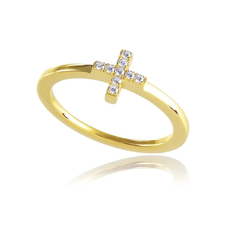Destiny Ring in 14 karat gold with brilliant diamonds - Inspired by the West Coast of Denmark.  See more at www.gittesoee.com