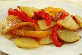 Pipi e Patati, Peppers and potatoes, traditional Calabrian recipe