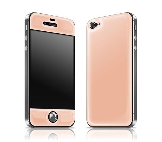 Peach/Charcoal glowing iPhone skin #productdesign...if I had an iphone