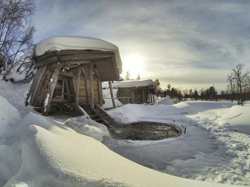 Smoke sauna at the Kiilopaa Fell Center