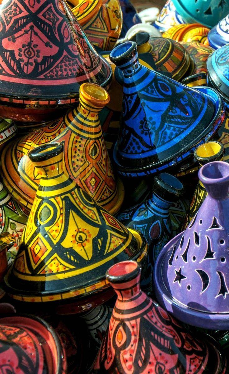 Tajines in the market, Morocco | 20 Photos that Prove Morocco is a Dream Destination