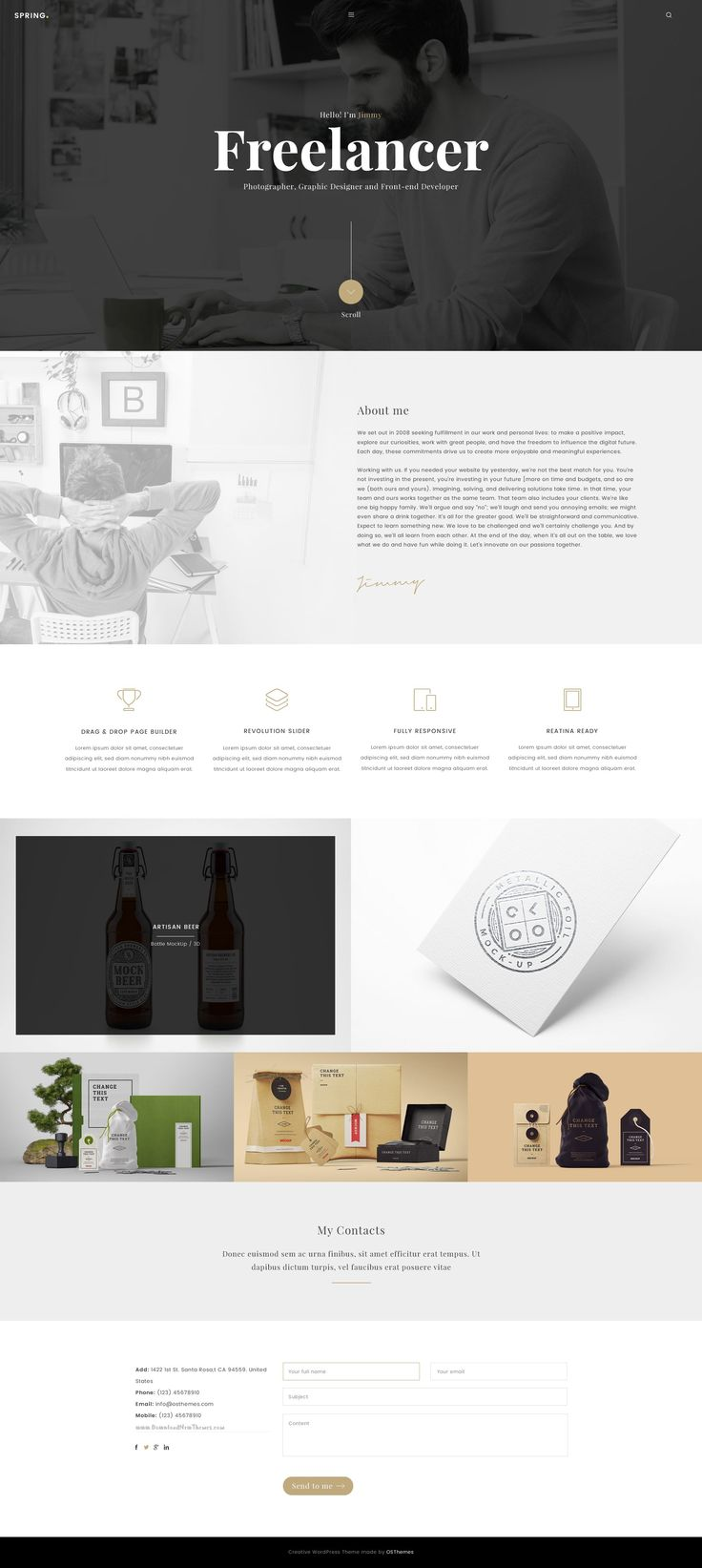 Spring is a Multipurpose template with 16 elegant web pages which respond to the most demanding customers. It can be a great choice for your Corporate, Ecommerce, Portfolio, Creative Agency etc. #freelancer #webdesign