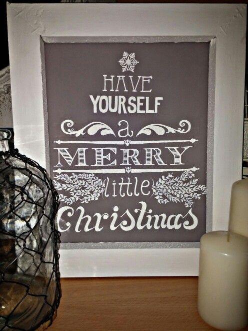 Merry christmas chalkboard print