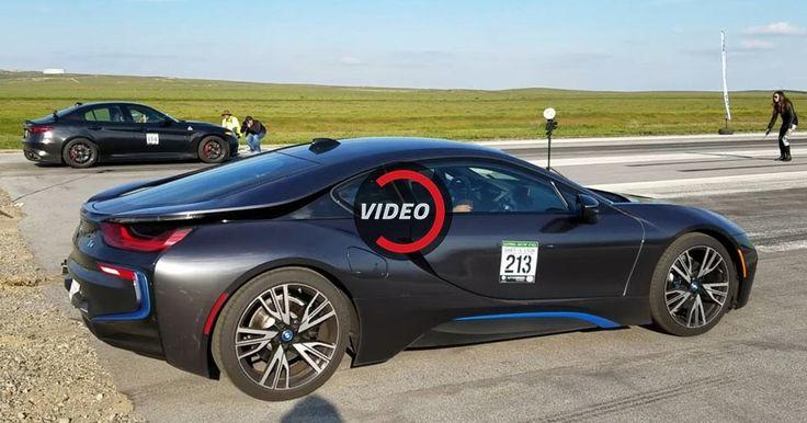 Alfa Romeo Giulia QV Unleashes Its Italian DNA Against A BMW i8 #Alfa_Romeo #Alfa_Romeo_Giulia