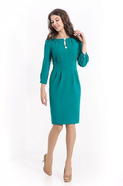 Платье МЕРЛ-9666 плательный креп бирюза цена - 3 290 руб. Платья в Москве.