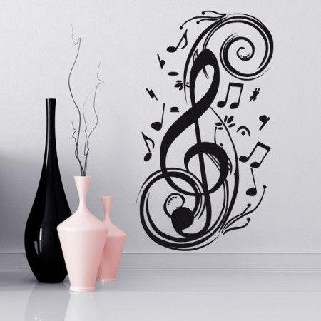 Deine Leidenschaft ist das Singen oder das Spielen von Instrumenten? Dann ist dieses Wandtattoo genau das Richtige für dich. #Notenschlüssel #Musik …