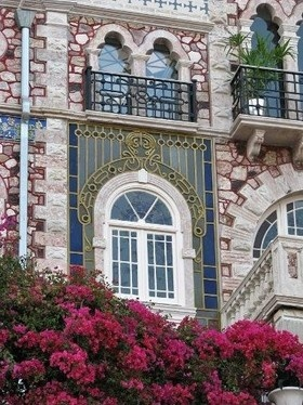 Chafariz d'el rei lisbon palace, windows detail, Lisbon